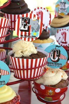 Cupcake decorations - circus theme! $7