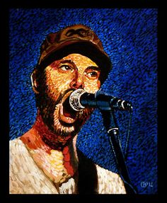 """Ben Nichols of Lucero"" Acrylic on canvas 11x14"