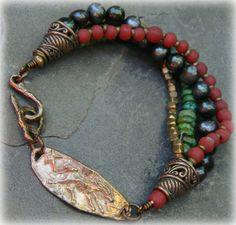 Southwestern Bronze Horse Bracelet by Gloria Ewing