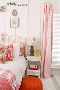 girls room decorating | target threshold | perfectly imperfect