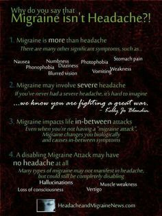 Migraines are debilitating! The pain is unreal..