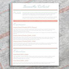 Pastel: CV + Cover Letter by @Graphicsauthor