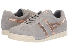 22b7017e616 Gola Harrier Mirror (Pale Grey Rose Gold) Women s Shoes. Who s the flyest