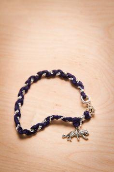 Auburn Tigers Charm Bracelet by Dimestore Diamonds for Bourbon & Boots