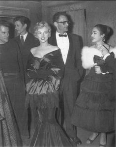 Marilyn and Arthur Miller at the London premiere of A View From The Bridge, October 11, 1956.