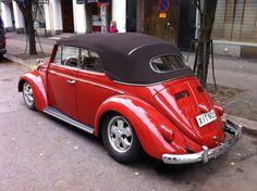 Tero Virta, from Helsinki, Finland. 1960 Poppy Red VW Karmann Kabriolett, VolksWorld featured car few years ago.
