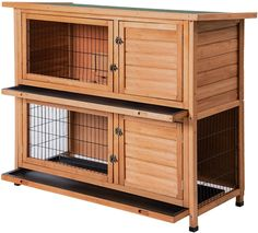 Hurry to find the comfortable rabbit hutch for your lovely pet. Our wooden house is your best choice. This hutch is similar to a bunk bed as there are two cages stacked on each other. The house includes raised legs to keep it off the ground and makes it much more difficult for any other pests to be able to enter. The house has removable floors. It is easy for you to clean and you do not need to waste much time. #chickencoops #backyardchicken #gpcshop #gentlemanpirateclub #amazon Small Rabbit, Pet Rabbit, Small Animal Cage, Small Animals, Xbox One 360, House Rabbit, Hen House, Outdoor Rabbit Hutch, Rabbit Colors