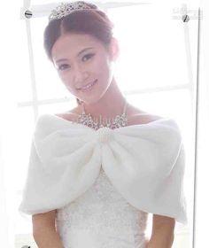 Faux Fur Bridal Wrap