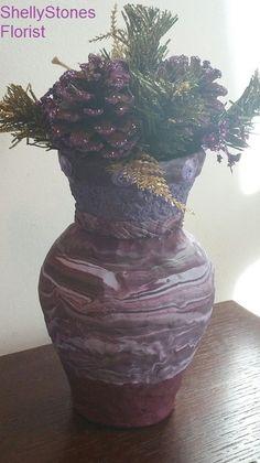 Polymer Clay Vase - Plum Lane by ShellyStonesFlorist on Etsy