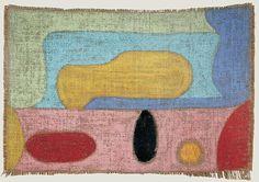 Paul Klee,  Befehl zum Ablauf 1938 Pastell auf Jute