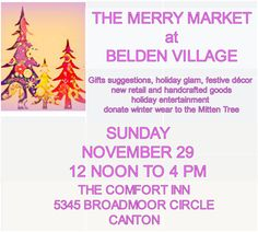 ho ho holiday pop up market...Ginger Ackley in concert...enter to win Canton Charge prize pack...free to attend!