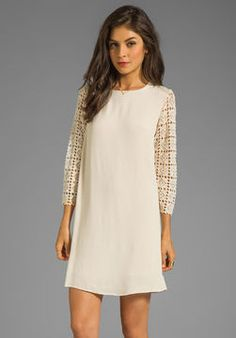 MM Couture by Miss Me Long Sleeve Dress with Lace Sleeve on shopstyle.com