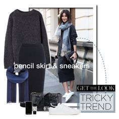 Tricky Trend: Pencil Skirts & Sneakers by maxfield on Polyvore featuring polyvore, fashion, style, Acne Studios, Iris & Ink, adidas Originals, Cartier, Burberry and Chanel