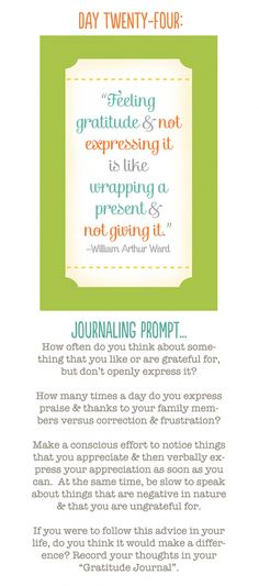 more gratitude journaling