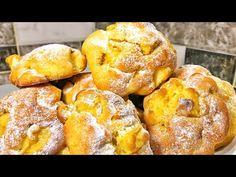 Din 2 mere! Gust din copilărie! Fiecare bucățică se topește în gură!   Olesea Slavinski - YouTube Jacque Pepin, Pastry And Bakery, Sweets Recipes, Pretzel Bites, French Toast, Deserts, Bread, Pastries, Breakfast