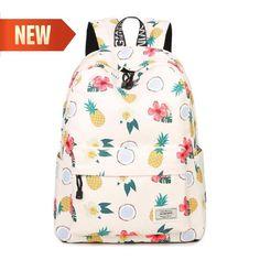 White Pineapple Fruit Backpack Women Laptop School Bag  WINNER  Backpack  Canvas Backpacks, Girl 9d8db98267
