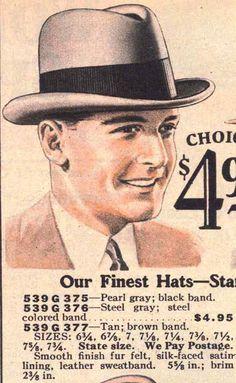 1930 MW Fall-Win p246 men hats, Homburg 1.jpg (613×996)