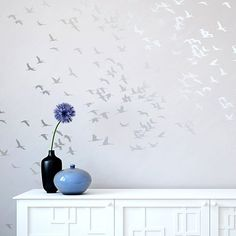 Flock of Cranes Stencil - Reusable stencils for easy DIY wall decor
