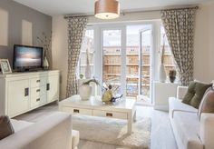 David Wilson Homes - Newbury. Fantastic interior design idea for a small living room and dining room.