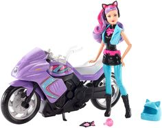 """Toys """"R"""" Us - Barbie - Spy Squad Doll and Motorcycle Barbie Dream, Barbie Doll House, Doll Clothes Barbie, Barbie Dolls, Toys R Us, Barbie Furniture, Shopkins, Barbie Sets, Barbie Playsets"""