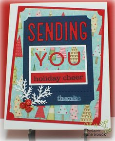 Simply Elegant Paper Crafts blog; PTI (Papertrey Ink) Phrase Play #6 die and stamps to match