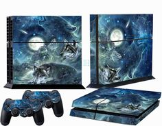 Wolf Custom Sticker for PS4 PlayStation 4 Console Controller Protector Skins #New