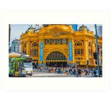 Flinders Street Station on Australia Day 2015 Art Print