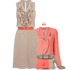 """""""Fresh Fall Work Outfit"""" by rleveryday on Polyvore"""