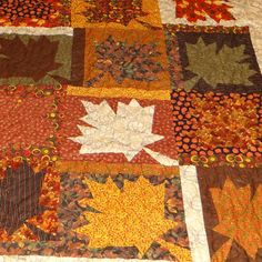 Large Maple leaf lap quilt by 4quiltsandmore on Etsy, $169.00