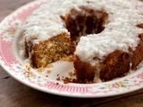 Grandma Yearwood's Coconut Cake with Coconut Lemon Glaze - Click image for the full recipe!