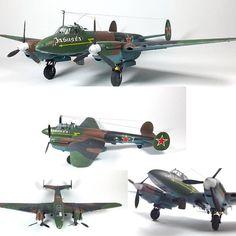 Petlyakov Pe-2  1/48 scale  By: Ustyuzhanin Eugeni  From: Zvezda  #Petlyakov #udk #usinadoskits #aeronave #airplane #aircraft #klimov #soviet #sovietico #guerra #war #miniatura #miniature #miniart #hobby #worldscale #scale #modelscale