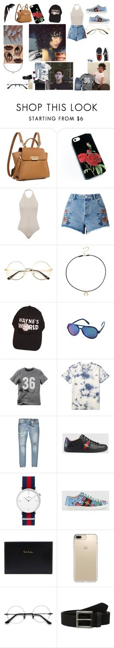 """""""Prove"""" by teylorann on Polyvore featuring ZAC Zac Posen, Miss Selfridge, Dogeared, Carter's, River Island, Gucci, Paul Smith, Speck and Timberland"""