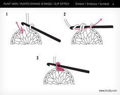 Punt nan / Punto enano / Slip stitch #BruDiy #ganchillo #crochet #tutoriales