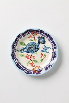 "Bluebird Dinner Plate (10.25"" diameter) #anthropologie"