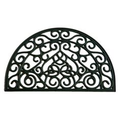Wrought iron rounded {slice} doormat $14.98 at Lowes