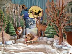 Новый год фотозона сказочный лес. Картонный декор photo new year