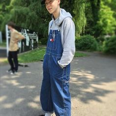 Black Overalls, Bib Overalls, Dungarees, 90s Aesthetic, Menswear, Mens Fashion, Guys, Pants, Style