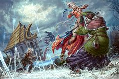 Baba Yaga Fighting by KateMaxpaint on DeviantArt
