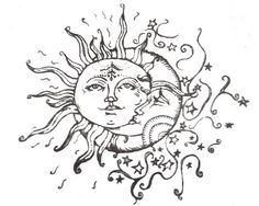 Sun And Moon Drawing Tumblr | fashionplaceface.