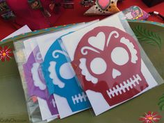 Happy Dia de Los Muertos! I made these cards from scrap paper and my Brother Scan N Cut machine!