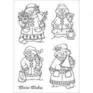 Cuddly Buddly Clear Stamps - Snow Family