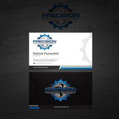 Precision Industrial Equipment Business Card Design by VA Studio