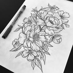 floral tattoos are so pretty gosh I want one