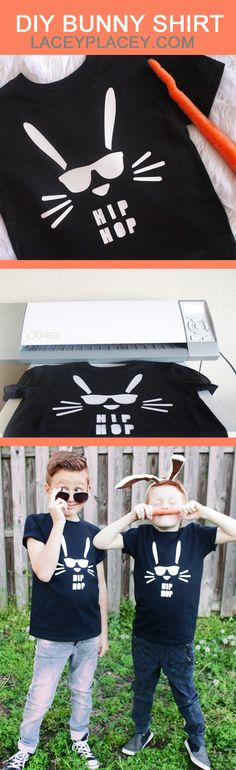 Make your Boys a Bunny Shirt they can wear proudly! Coolest Easter Bunny Shirt Ever!