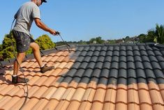 Roof Painting Sydney can help your pocket as well, by increasing the longevity o.Roof Painting Sydney can help your pocket as well, by increasing the longevity of your roof, giving it an additional layer of weather protection and f. House Paint Exterior, Exterior Paint Colors, Exterior House Colors, Spanish Tile Roof, Brick Roof, Metal Roof, Ceramic Roof Tiles, Roof Cladding, Roof Restoration