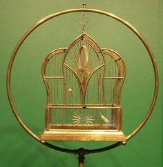 Brass birdcage/stand