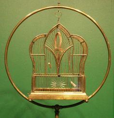 Oh yes, bird cages with stands! My grandma gave me her canary (I named her Tweetie), complete with the brass cage stand & cage.