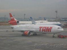 TAM MD11 on pushback at SBGR
