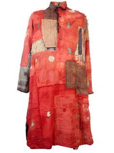 KAPITAL - Venice Laureate Patchwork Tunic boro stitching japanese mending