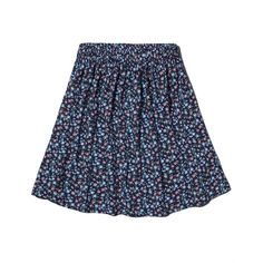 Abercrombie & Fitch Natural Waist Skater Skirt ($24) ❤ liked on Polyvore featuring skirts, light blue floral, light blue skater skirt, floral knee length skirt, knee length skater skirt, skater skirts and flared skirt